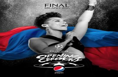 Global: Pepsi presents Alicia Keys at Uefa Champions League Final