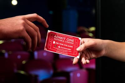 Santander creates 'invisible cinema' to highlight data fraud