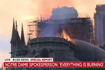 YouTube made 'wrong call' by linking Notre Dame fire videos to 9/11