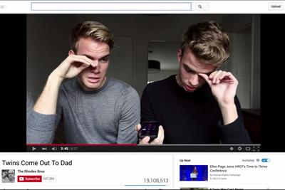 Campaign Viral Chart: YouTube's video celebrating marriage equality hits top spot