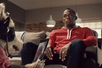 Usain Bolt returns in BBH Virgin Media ad
