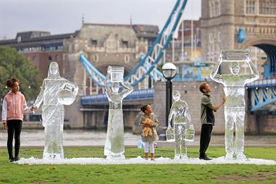 WaterAid uses ice sculptures to highlight fragility of water availability