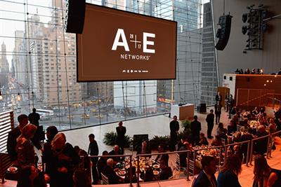 A&E gets personal at the upfronts, and rises above the noise
