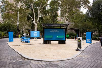American Express plants mobile office installations for 'Built for Business' campaign