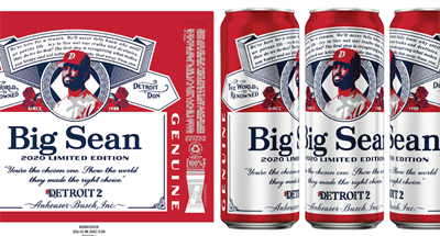 Rapper Big Sean gets a spot on the Budweiser label