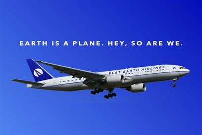 Satirical brand Flat Earth Airlines takes flight