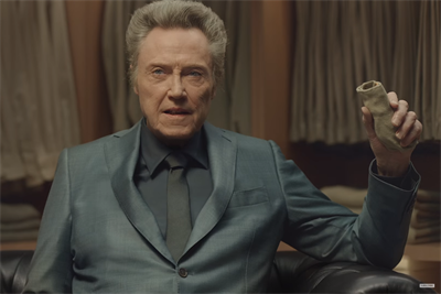 Christopher Walken works with a sock puppet in Kia Super Bowl ad