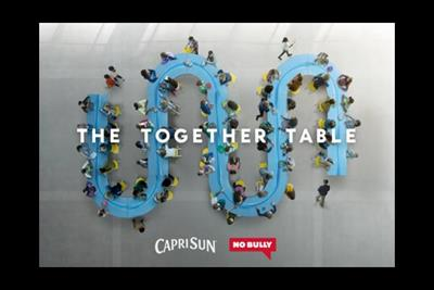Capri Sun's 'Together Table' waves goodbye to cafeteria bullying