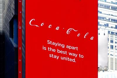 Coke goes big with COVID social distancing in Times Square
