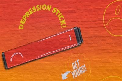 """Truth Initiative sells """"depression sticks"""" in anti-vape campaign"""