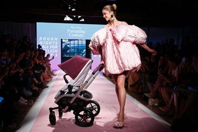 Quinny stroller brand hacks Milan Fashion Week with 'Parent Couture' line