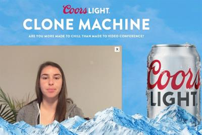 Coors Light creates Zoom 'Clone Machine' to trick colleagues into thinking you're engaged