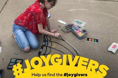 Share the '#JoyGivers' and Lay's will donate $50 to Feeding America