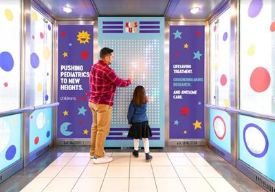 Kids finally get to press all the buttons in this Children's Health 'Get Well-evator'