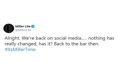 ABInBev brilliantly trolls Miller Lite after breaking social media silence