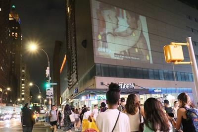 Here's why Cindy Gallop projected social sex on NYC buildings this weekend