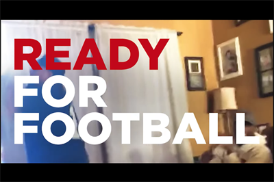NFL campaigns show gridiron-starved fans getting ready for the game