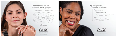 Diverse women in STEM take center stage in Olay's new print campaign