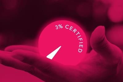 Possible achieves 3% Certificate after 'humbling' evaluation