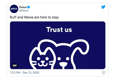 'Your new logo is cold and lifeless': Consumers outraged after Petco removes cat and dog from logo
