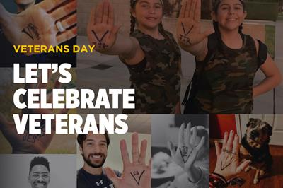 Why social media users are drawing a 'V' on their palms this Veterans Day