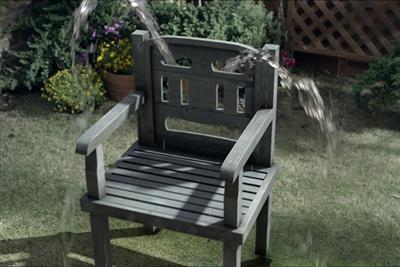 "Cuprinol ""whimpering chair"" by 18 Feet & Rising"
