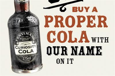 """Curiosity Cola """"proper cola"""" by Sell! Sell!"""