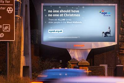 """Age UK """"No one should have no one at Christmas"""" by Grand Visual"""
