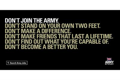 "Army ""don't become a better you"" by Karmarama"