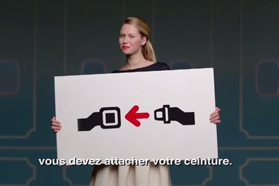 """Air France """"France is in the air - safety demonstration video"""" by BETC Paris"""