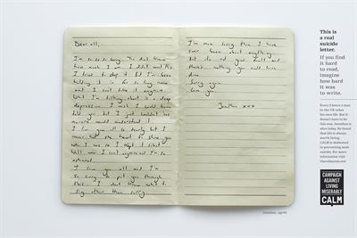 "CALM ""Suicide notes"" by Adam & Eve/DDB"