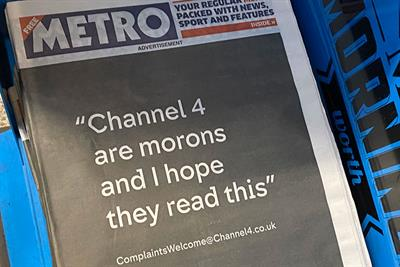 """Channel 4 """"Complaints welcome"""" by 4Creative"""