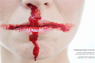 """National Centre for Domestic Violence """"The not-so-beautiful game"""" by J Walter Thompson"""