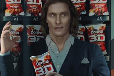 'Flat' Matthew McConaughey stars in Doritos Super Bowl spot