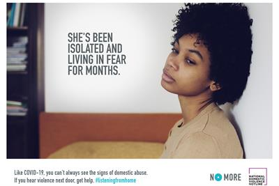 "No More Project & National Domestic Violence Hotline ""#Listeningfromhome"" by MRM McCann"