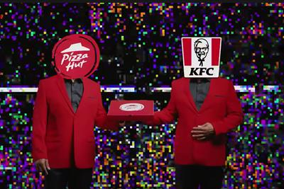 "Pizza Hut ""KFC Popcorn Chicken Pizza"" by Iris"