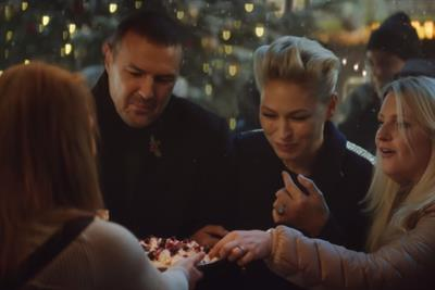 """M&S Food """"This is not just food, this is M&S Christmas food"""" by Grey London"""