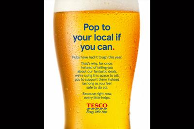 """Tesco """"Pop to your local if you can"""" by BBH London"""