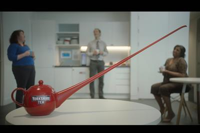 "Yorkshire Tea ""Social distancing teapot"" by Lucky Generals"