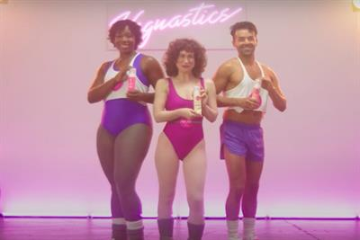 Eos whips out the spandex and neon for 'Vagnastics' class