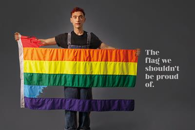 """Gay Times """"The flag we shouldn't be proud of"""" by The Gate London"""
