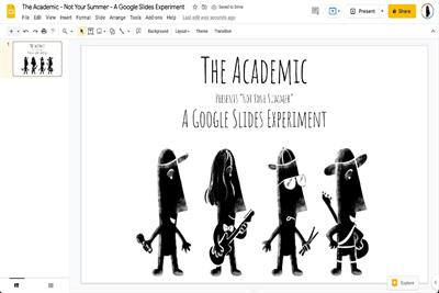 Indie band The Academic releases world's first live animation music video via Google Slides