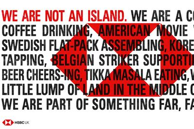 "HSBC ""We are not an island"" by J Walter Thompson London"