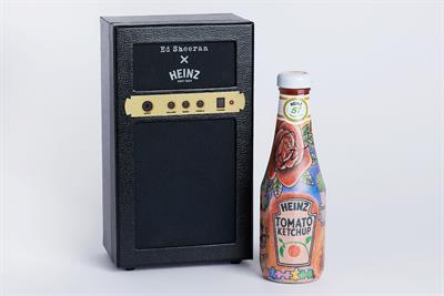 "Heinz ""Ed Sheeran X Heinz Tomato Ketchup, Tattoo Edition"""