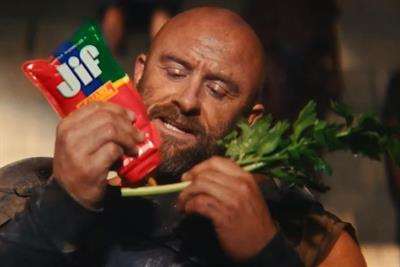 Gladiators 'fight to the Jif' in new ad for Jif Squeeze Peanut Butter