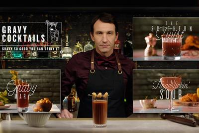 "KFC ""Gravy cocktails"" by Mother"