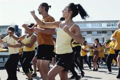 """Lucozade """"Orchestra of movement"""" by Grey London"""