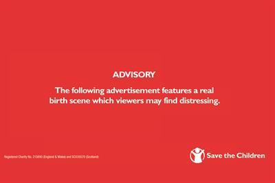 """Save the Children """"first day"""" by Adam & Eve/DDB"""