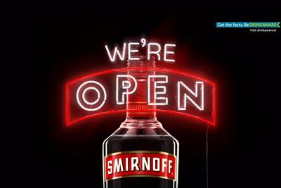 "Smirnoff ""we're open"" by 72andSunny"