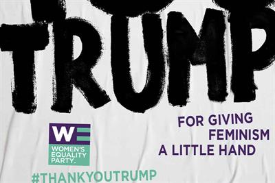"Women's Equality Party ""Thank you Trump"" by Now"